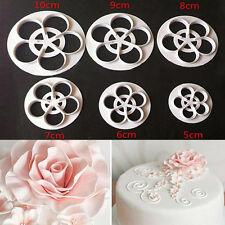 DIY Fondant Sugarcraft Cake Rose Flower Paste Decor Tool Mold Cookie Gum Cutter