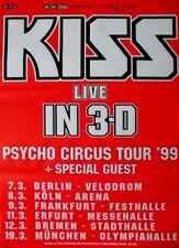 KISS - 1999 - Tourplakat - Psycho Circus - Tourposter - 3D - Rot
