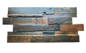 Industrial Style Wall Tiles, Decorative Reclaimed Wood Tiles, Wall Cladding