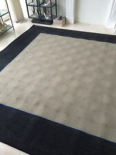 "9.6""x9.6"" PWV Studios LTD New Handmade 100% Wool Carpet Area Rug Never Used"
