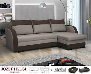 BRAND NEW JOZEF SOFA BED  Fabric GREY/DARK GREY, BEIGE/BROWN, BROWN/BLACK,