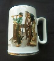Norman Rockwell River Pilot Mug 1985 #art #collectibles #mugs #cups