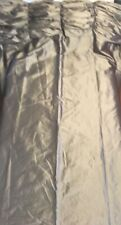 "Fabrics & Furnishing LLC Gray Lined 96"" Curtains With Ruffled Valance"