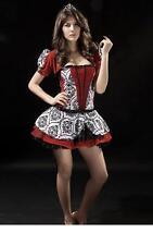 Sexy Women's Deep Red Princess Fantasy Enchantress Fancy Dress Costume
