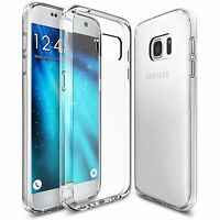 For Samsung Galaxy S7 Case Ultra Slim Clear Transparent Gel Cover & Screen Film