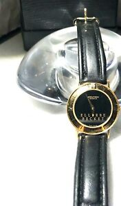 ACCUTRON:Swiss/GoldtoneCase/Bezelw/Diamond@12/ELLERBE BECKET Face/BlackBand92576