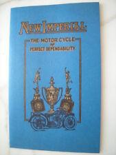 Prospekt New Imperial Motorräder 350 250 500 ccm 7B 8 680 ccm 1923 -18 Seiten