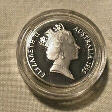 1995  AUSTRALIAN SILVER PROOF WALTZING MATILDA DOLLAR COIN IN BOX/ COA 925/1000