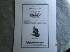 New Way Motor Co All Purpose Air Cooled Gas Engine Instruction Amp Parts Manual