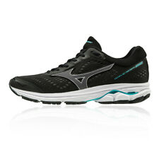 Mizuno Womens Wave Rider 22 Running Shoes Trainers Sneakers Black Sports