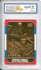 1986 MICHAEL JORDAN FLEER ROOKIE 23KT GOLD CARD REPRINT SPECIAL EDITION GRADED