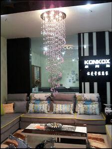 RainDrop Crystal Ceiling lamp - Spiral Pendant Light - Stair Chandelier LED