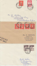 1952-70 lot of 8 x Liverpool Paquebot covers inc Sylvania & Saxonia