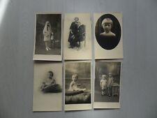 Vintage : lot de photos portraits ( couples, enfants ) état voir les 2 photos