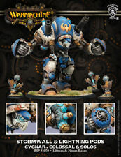 Warmachine: Cygnar: Stormwall & Lightning Pods Colossal & Solos (PIP31050) NEW