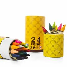JAR MELO SILKY WASHABLE NON-TOXIC CRAYONS - 24 COLOURS NEW