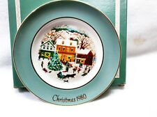 "Vintage Avon Christmas Plate ""Country Christmas"" (1980)-Enoch Wedgwood"
