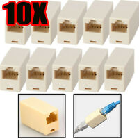 10X RJ45 Cat5e Cat 5 Coupler Joiner Connector Broadband Ethernet Network Cable