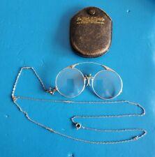 Antique T&P Streamline Eyeglasses Gold Filled 1/10 12K.G.F. Spg Opera W/Case