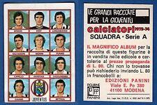 FIGURINA CALCIATORI PANINI 1973/74 - NUOVA/NEW N.18 SQUADRA - JUVENTUS