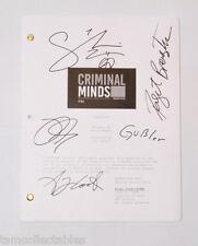 CRIMINAL MINDS cast signed script Shemar MOORE Thomas GIBSON AJ COOK GUBLER