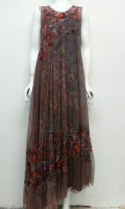 BIYA by Johnny Was Embroidered Lyoire Mesh Dress w Slip - M - JW88500121