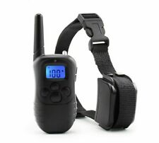 Dog Training Collar LCD Display Electric Shock Rechargeable Rainproof Pet Tool