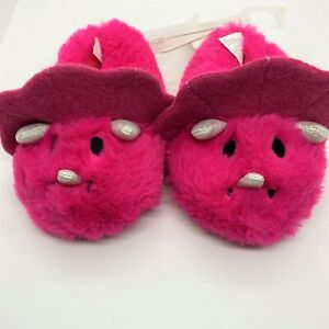 Cat & Jack toddler dinosaur slippers-pink-size 7/8 NWT