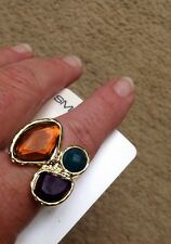 DAISY AND EVE @ EVANS BNWTS 3 STONE RING SIZE SMALL