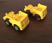 Large LEGO Yellow Vehicle With Headlights Lot Of 2
