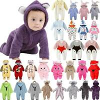 Newborn Baby Kids Boy Girl Hoodie Animal Romper Jumpsuit Bodysuit Clothes Outfit