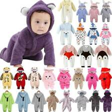 Newborn Baby Kids Boy Girl Hooded Cartoon Romper Jumpsuit Clothes Outfit 0-18M