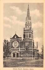 Stanstead Quebec Canada Catholic Church Antique Postcard J66206