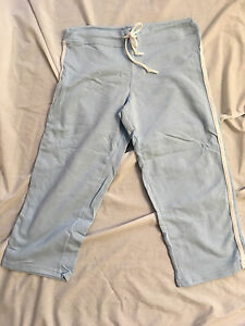Womens capris jersey sweats gray white red brown Small Med Large XL cotton New