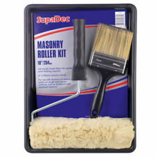 "MASONARY PAINT ROLLER KIT WITH 4"" BRUSH DIY Decorating Paint Tray Roller Brush"