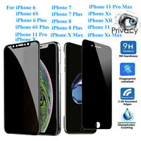 For iPhone 6/6S 7 8 11 Pro X XS Max XR Privacy Tempered Glass Screen Protector