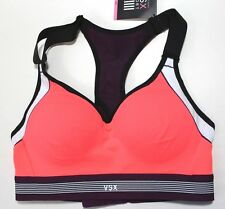 Victoria's Secret VSX Sport Bra Racerback Underwire Size 32B Orange Purple NWT