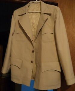 VINTAGE JOHNNYCARSON TSILORED BY LINDEN AND SONS LEISURE SUIT COAT