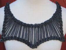 Black Lace Collar Yoke Neckline Applique Bodice Garment Trim Embellishment