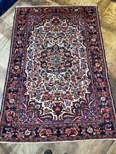 "Old Handmade Hamedan Oriental Rug Size: 226x152 cm 7'5""x5'"
