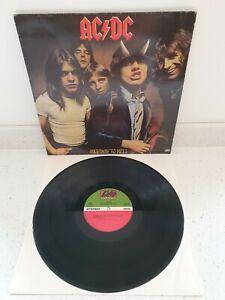 AC/DC HIGHWAY TO HELL VINYL LP 1979 ATLANTIC 50628 RARE GREEK PRESS VG+/VG+