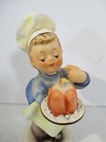 Goebel Hummel Figurine Baker Boy Tasting Cake Hat Apron Vintage 1960 TMK3 #128