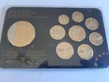 superbe coffret euro specimen essai vatican 2000 exemplaire plaqué or 24 carats