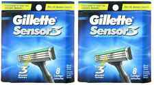 Mens Gillette Sensor3 Refill Razor Blades - 16 Cartridges