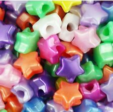 *3 for 2* 50/100 Mixed Pearl Star Shape 13mm Pony Beads Top Quality Pony Beads