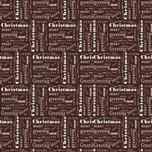 White Christmas Chocolate Transfer Sheet