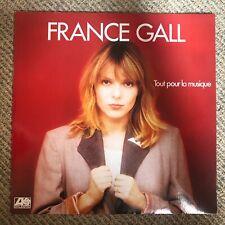 France Gall - Tout Pour La Musique - Scarce 1981 French 9trk vinyl LP
