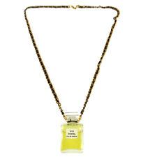 CHANEL Vintage CC Logos Gold Chain Perfume Pendant Necklace Authentic AK36825h