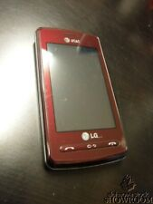 Used & Untested LG Vu Cu920 (Wine) AT&T* Basic Touch Screen For Parts Or Repair
