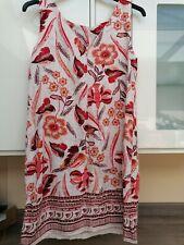 Next Pretty Linen Shift Dress Pockets 12